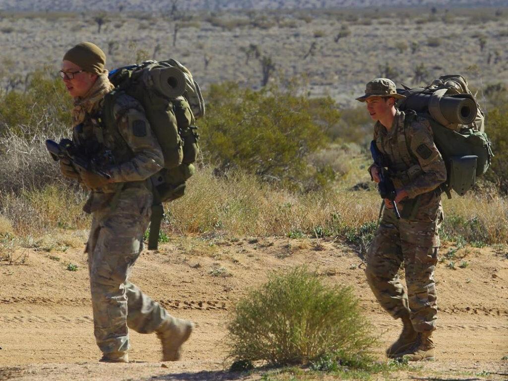 Military Explorers Hiking